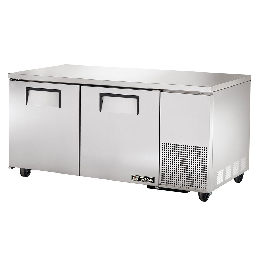 True TUC-67F~SPEC1 20.6-cu ft Undercounter Freezer w/ (2) Sections & (2) Doors, 115v