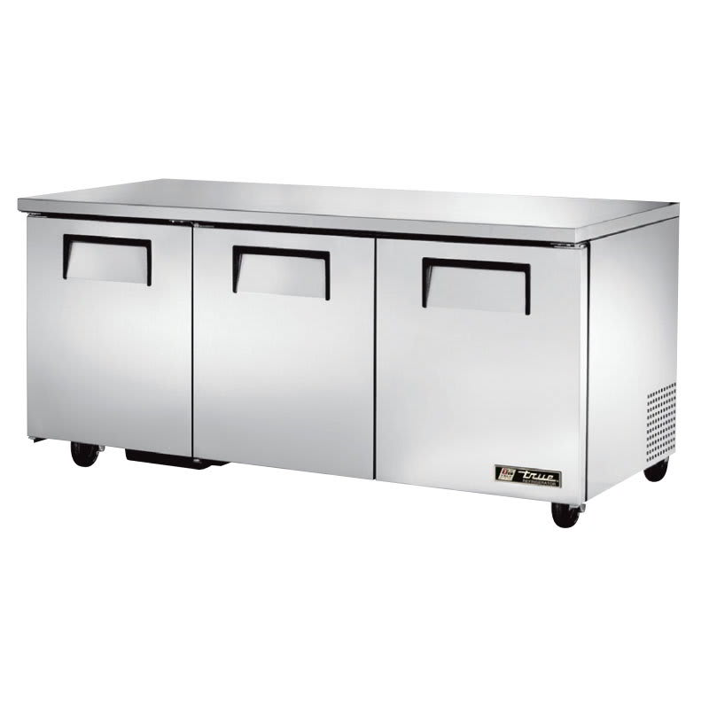 True TUC-72-HC 19 cu ft Undercounter Refrigerator w/ (3) Sections & (3) Doors, 115v