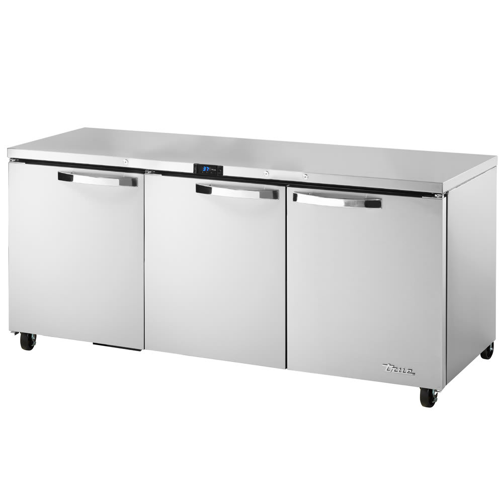True TUC-72-HC~SPEC1 19-cu ft Undercounter Refrigerator w/ (3) Sections & (3) Doors, 115v