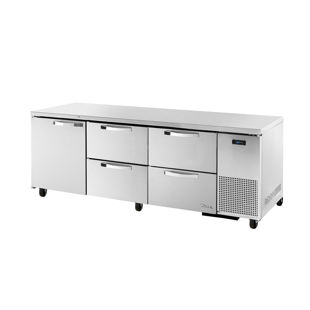 True TUC-93D-4~SPEC1 30.9 cu ft Undercounter Refrigerator w/ (3) Sections, (1) Door & (4) Drawers, 115v