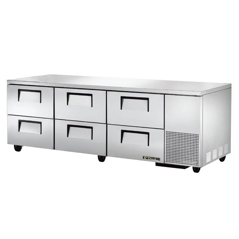 True TUC-93D-6 30.9 cu ft Undercounter Refrigerator w/ (3) Sections & (6) Drawers, 115v