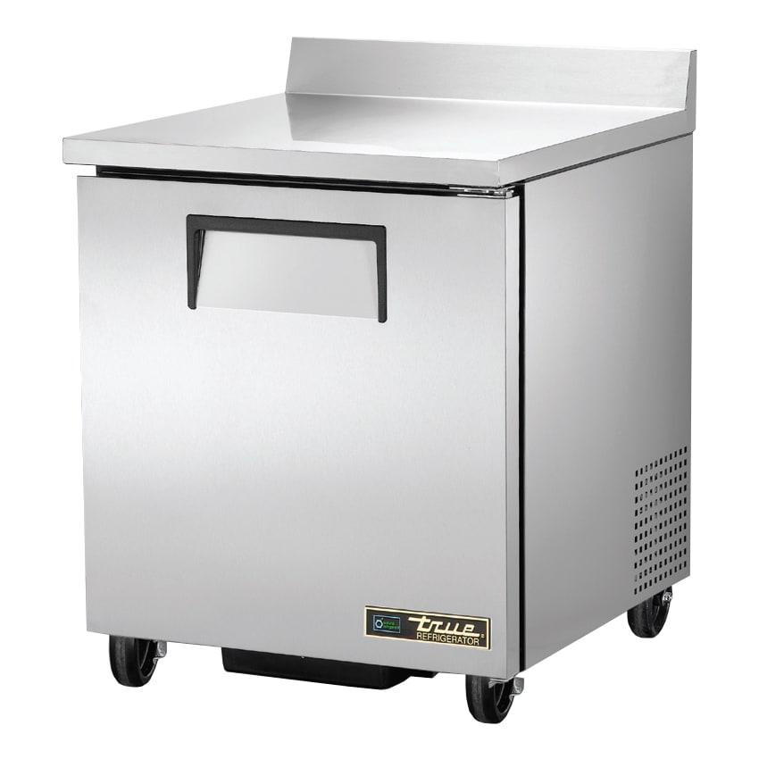 """True TWT-27-HC 28"""" Worktop Refrigerator w/ (1) Section & (1) Door, 115v"""