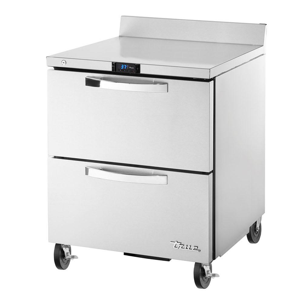 "True TWT-27D-2-HC~SPEC1 28"" Worktop Refrigerator w/ (1) Section & (2) Drawers, 115v"