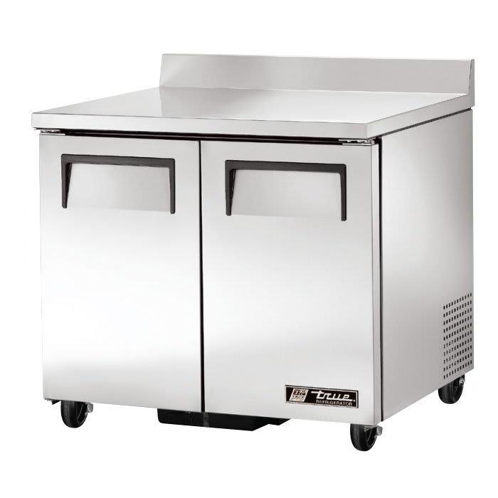 "True TWT-36-HC 37"" Worktop Refrigerator w/ (2) Sections, 115v"