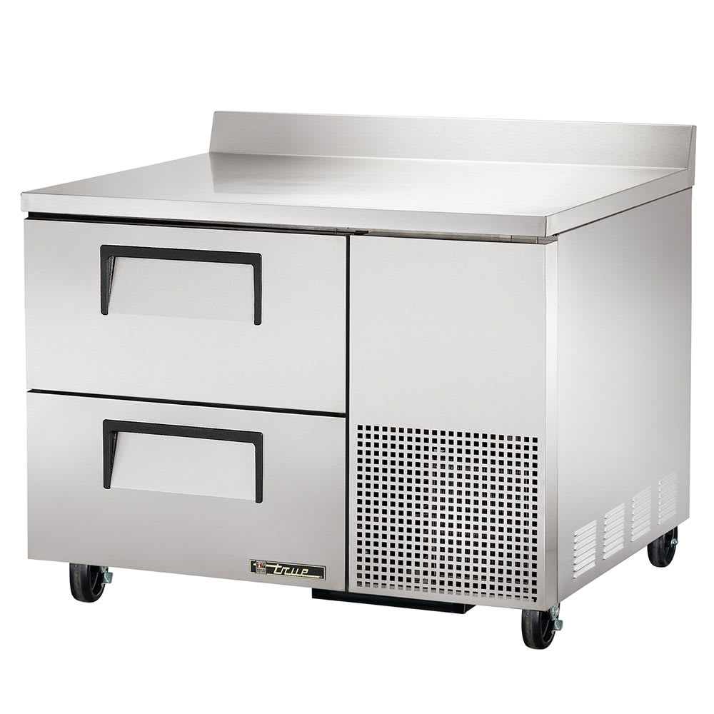 """True TWT-44D-2 45"""" Worktop Refrigerator w/ (1) Section & (2) Drawers, 115v"""