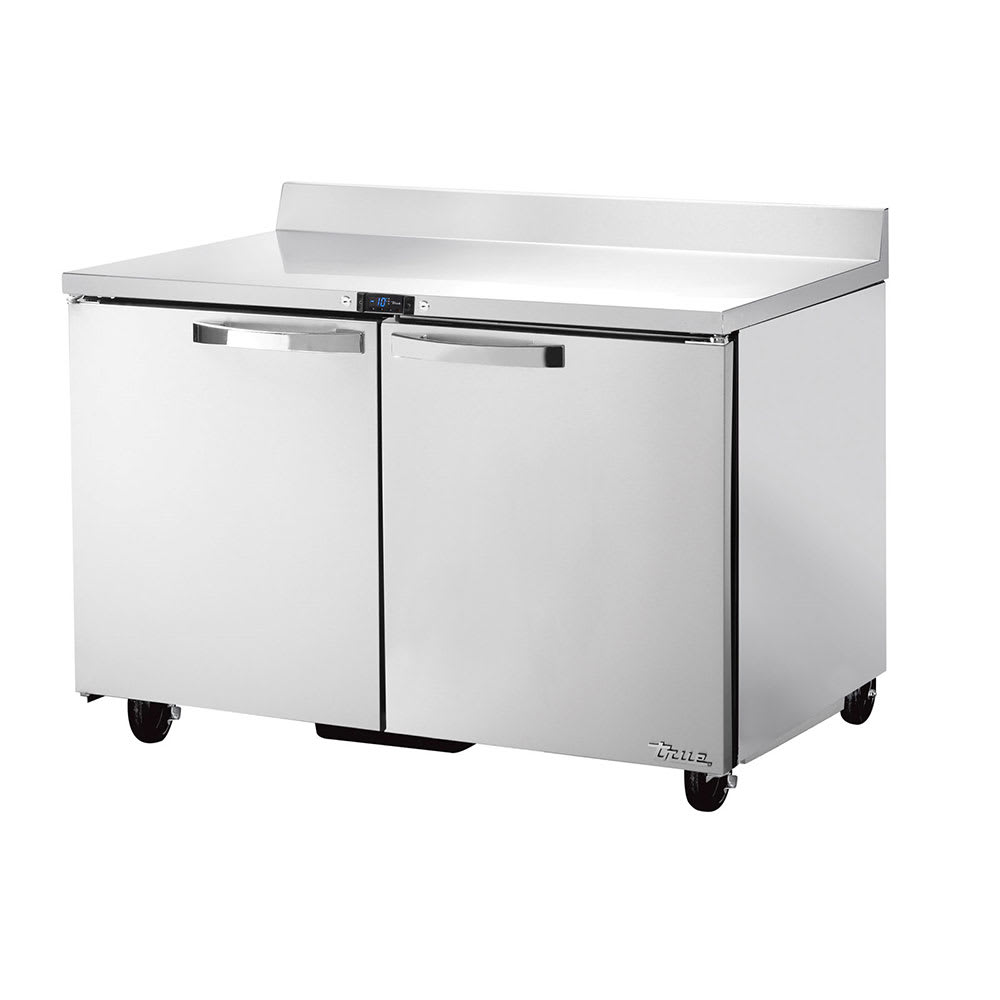 "True TWT-48F-HC~SPEC1 48"" Work Top Freezer w/ (2) Section & (2) Doors, 115v"