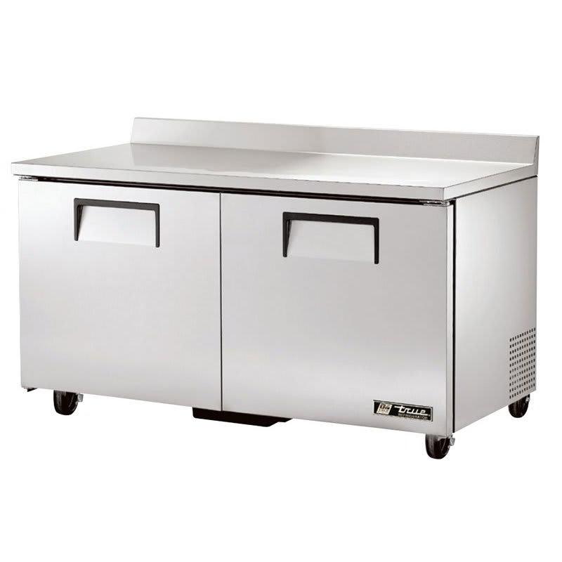 "True TWT-60-HC 60.38"" Work Top Refrigerator w/ (2) Sections, 115v"