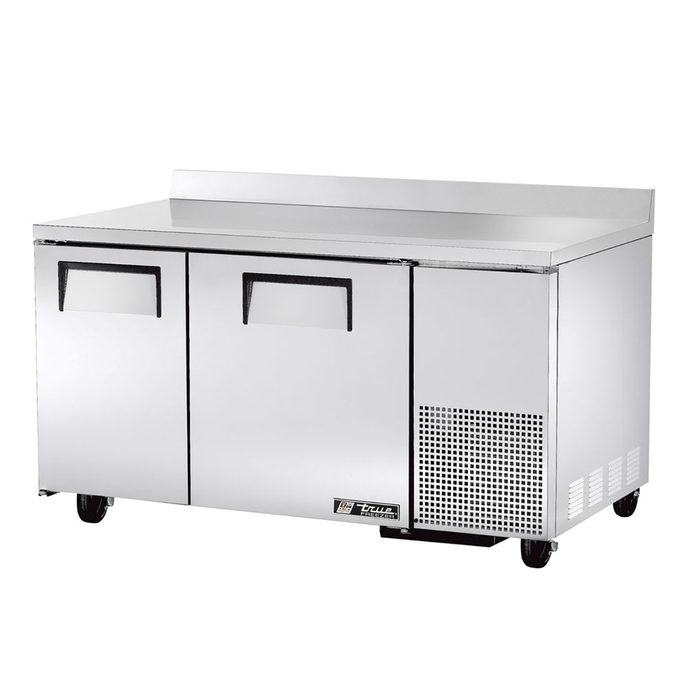 True TWT-60-32F 15.9-cu ft Work Top Freezer w/ (2) Sections & (2) Doors, 115v