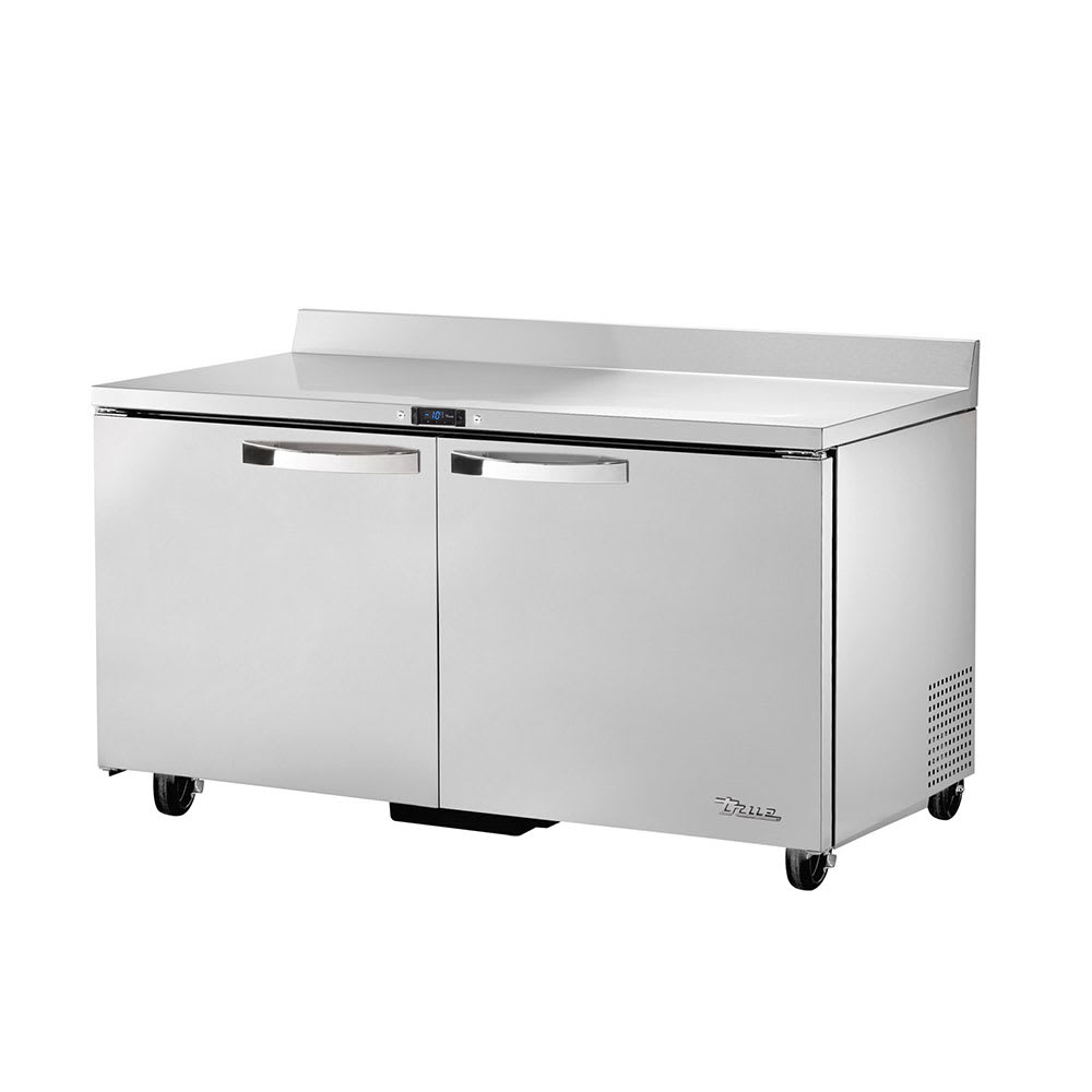 "True TWT-60F-HC~SPEC1 60"" Work Top Freezer w/ (2) Section & (2) Doors, 115v"
