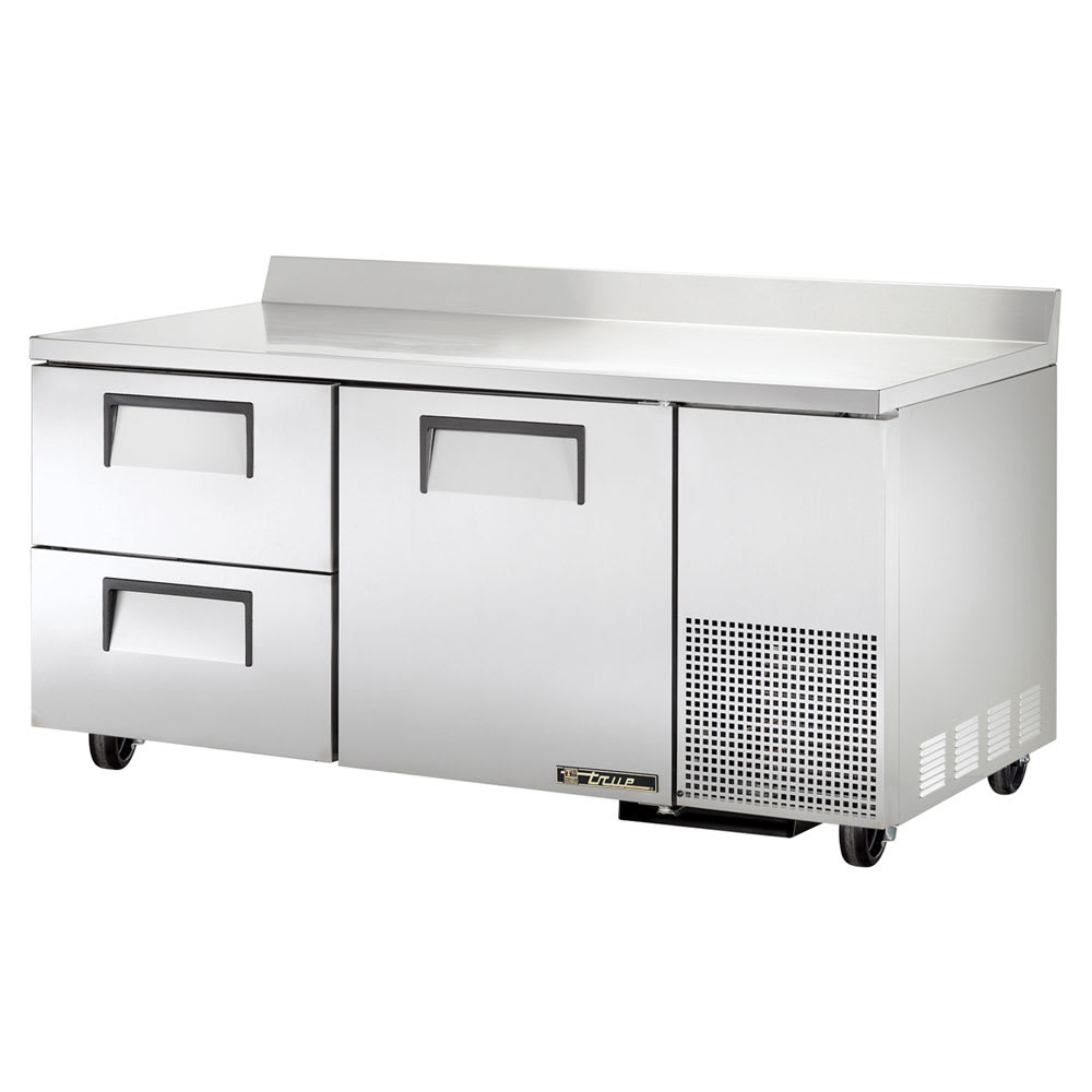"""True TWT-67D-2 67"""" Worktop Refrigerator w/ (2) Sections & (2) Drawers, 115v"""