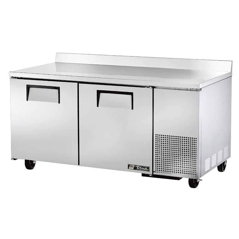 True TWT-67F 20.6 cu ft Work Top Freezer w/ (2) Sections & (2) Doors, 115v