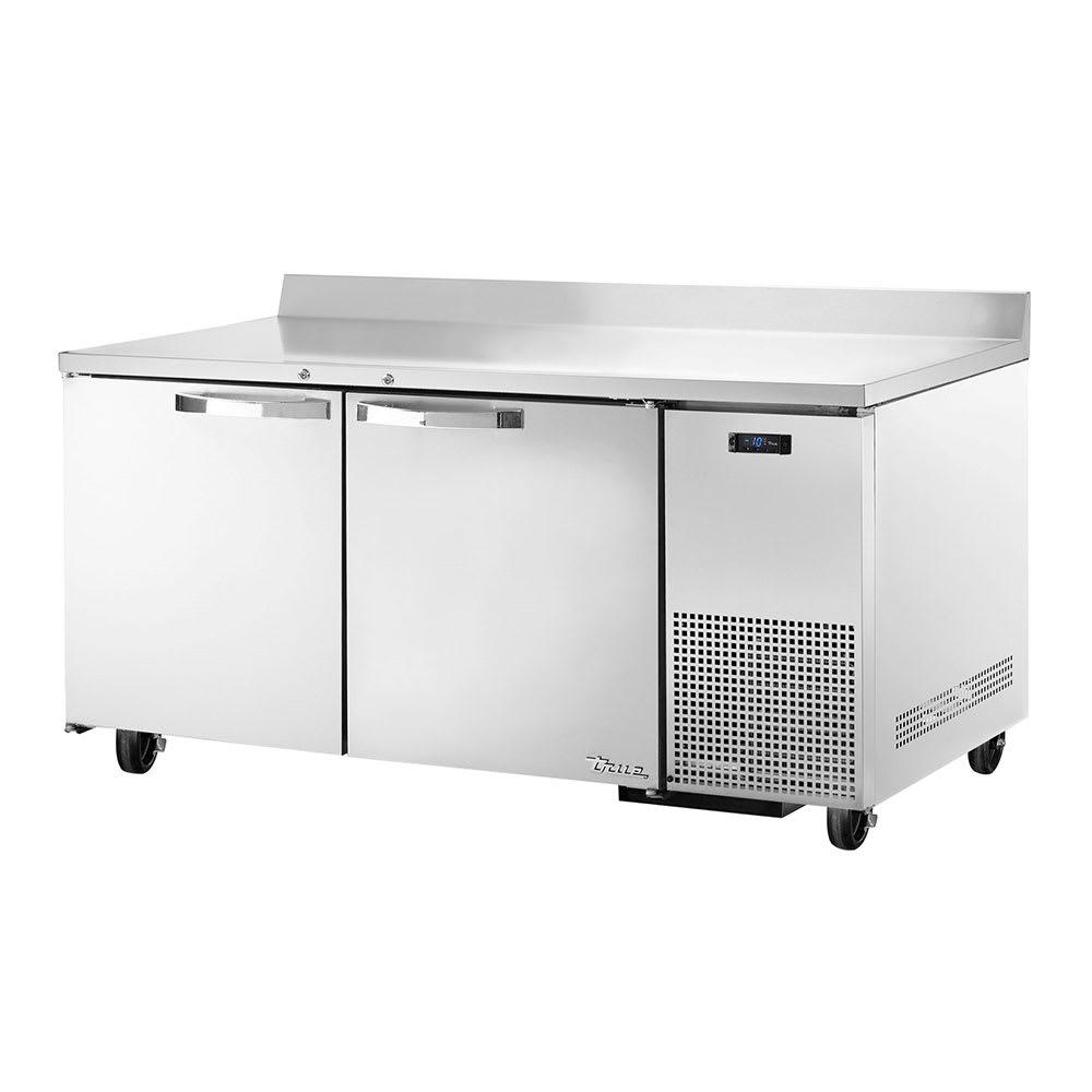 """True TWT-67F~SPEC1 67"""" Work Top Freezer w/ (2) Section & (2) Doors, 115v"""