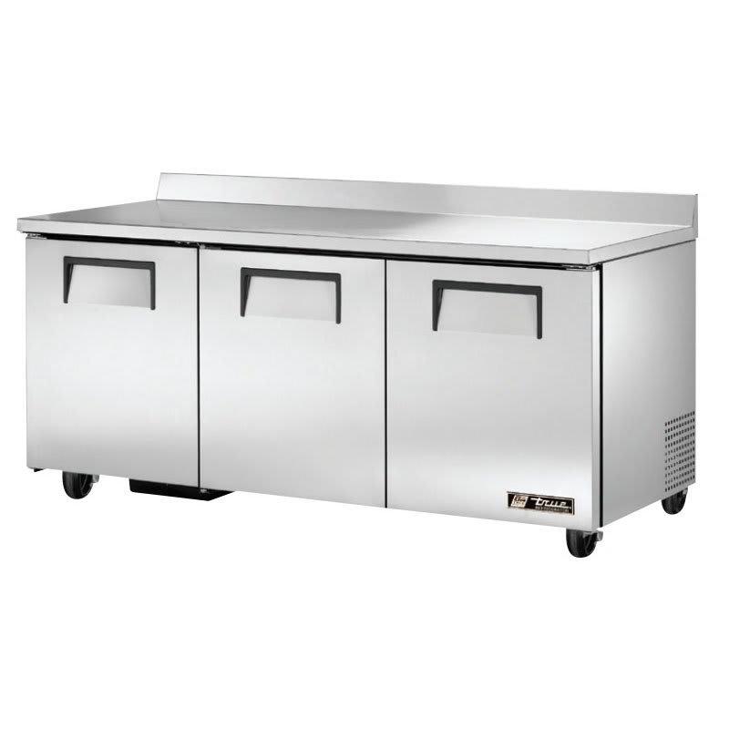 "True TWT-72-HC 72.38"" Work Top Refrigerator w/ (3) Sections, 115v"