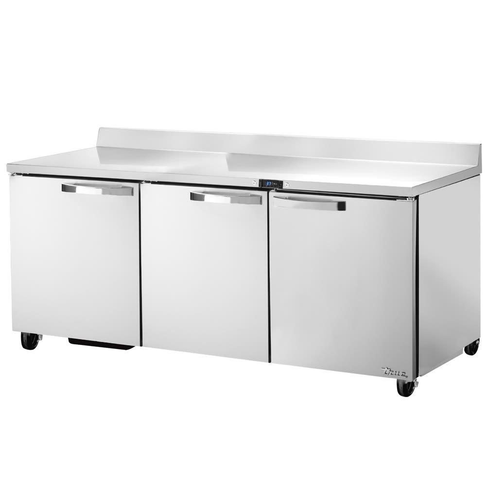 "True TWT-72-HC~SPEC1 72"" Work Top Refrigerator w/ (3) Sections & (3) Doors, 115v"