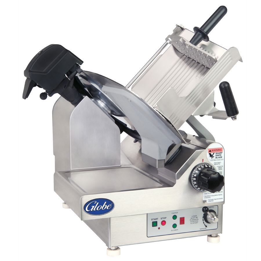 """Globe 3850N 13"""" Automatic Food Slicer w/ (2) Speeds, Stainless, 115v"""