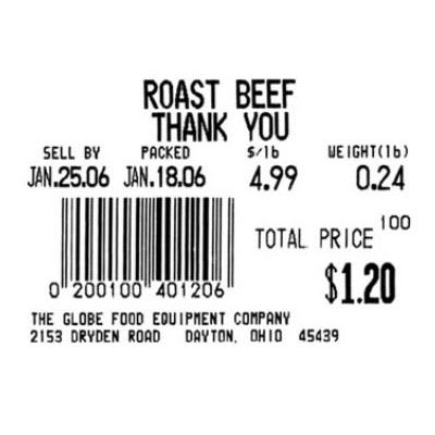 Globe E11 Labels, Case of 12 Rolls, 835 Labels per Roll, Label Size 2.36 x 1.79 in