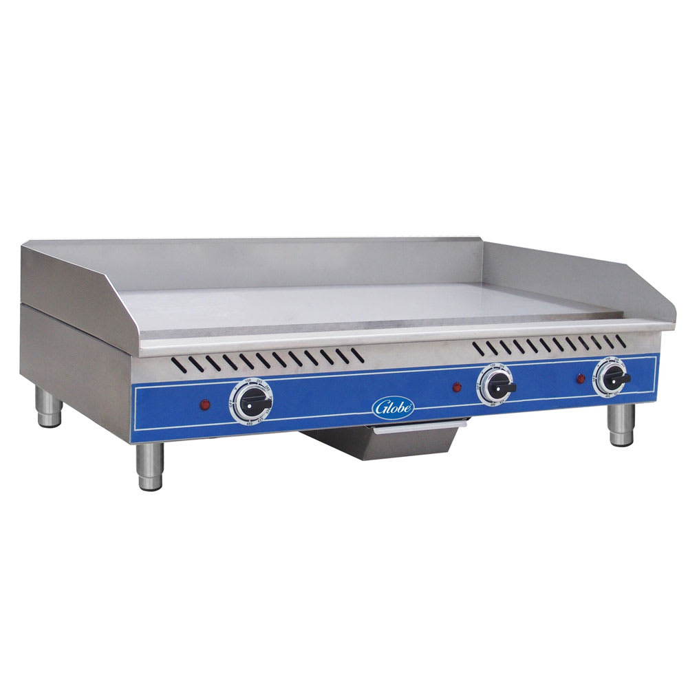 "Globe GEG36 36"" Electric Griddle - Thermostatic, 1/2"" Steel Plate, 208 240v/1ph"