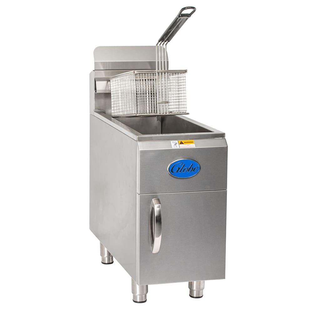 Globe GF15G Countertop Gas Fryer - (1) 15 lb Vat, NG