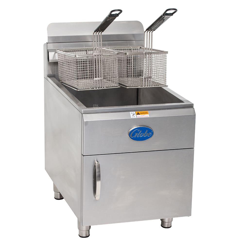Globe GF30PG Countertop Gas Fryer - (1) 30-lb Vat, LP
