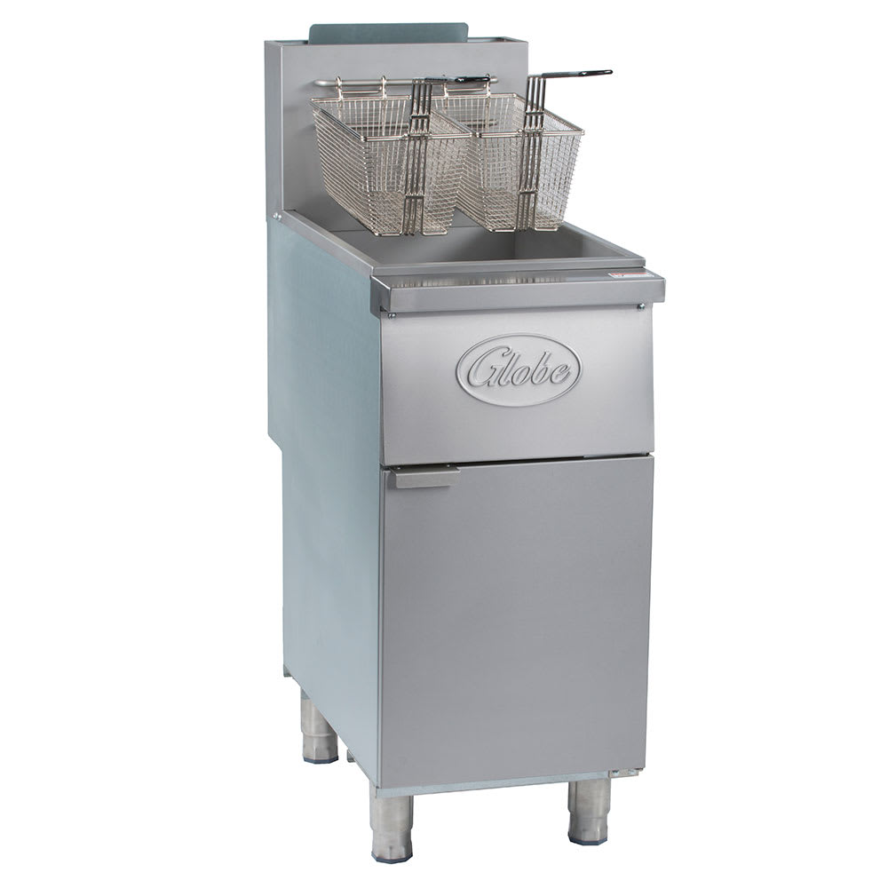 Globe GFF35G Gas Fryer - (1) 35 lb Vat, Floor Model, NG