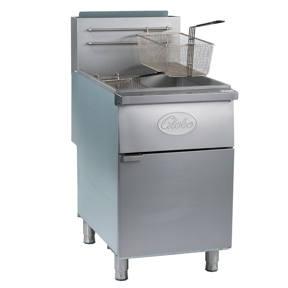 Globe GFF80PG Gas Fryer - (1) 80 lb Vat, Floor Model, LP
