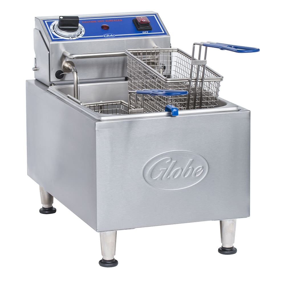 Globe PF10E Countertop Electric Fryer - (1) 10 lb Vat, 120v