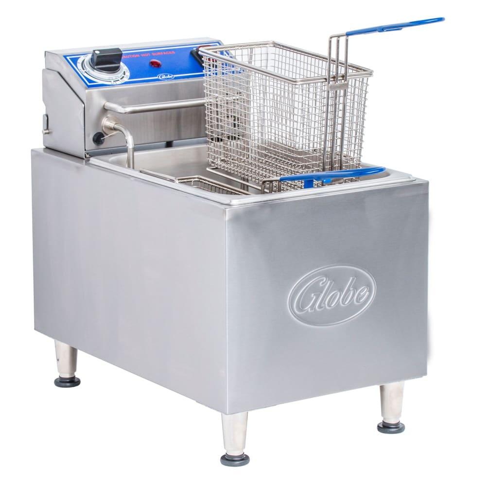 Globe PF16E Countertop Electric Fryer - (1) 16 lb Vat, 240v/1ph