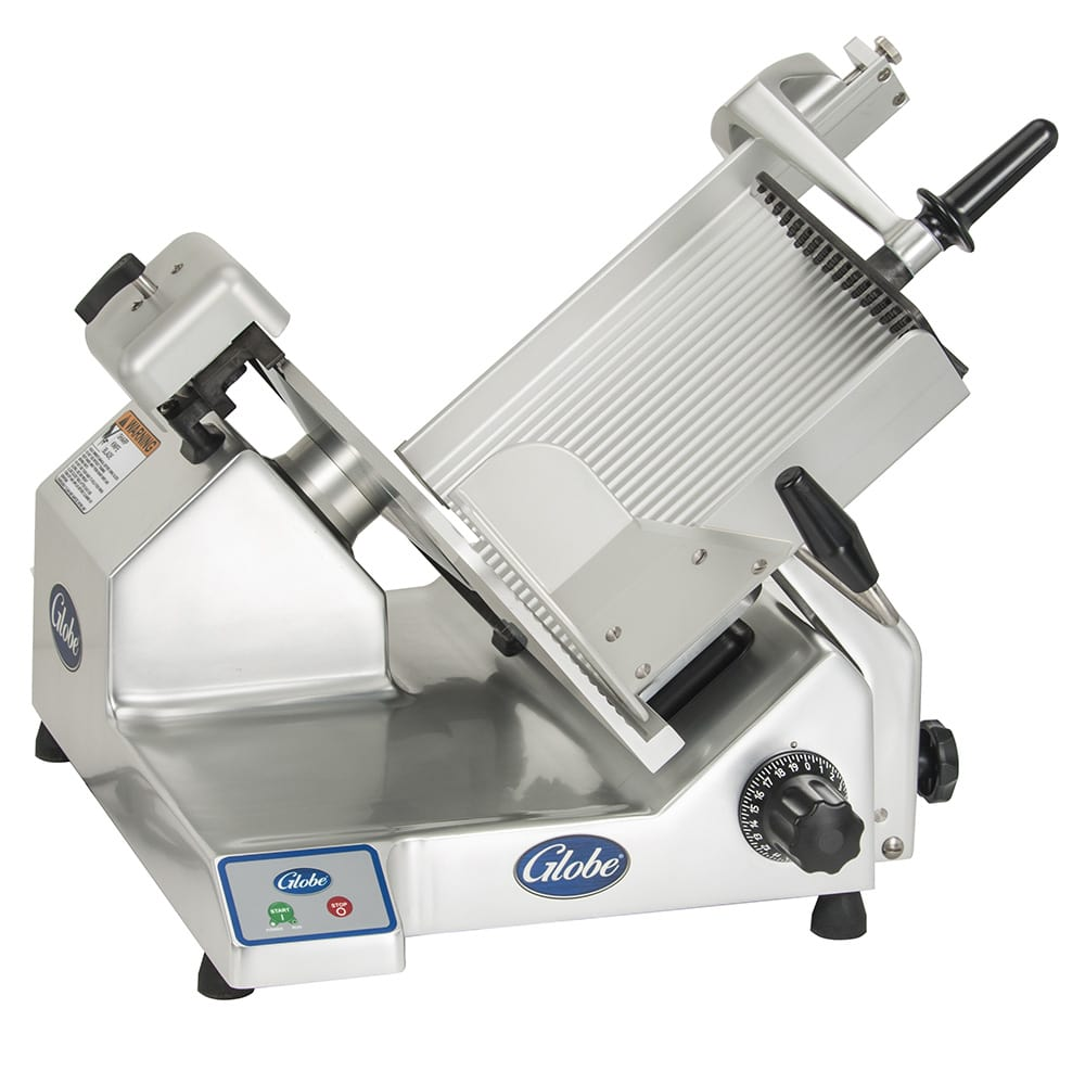 "Globe S13 Manual Heavy Duty Slicer w/ 13"" Knife - Aluminum, 120v"