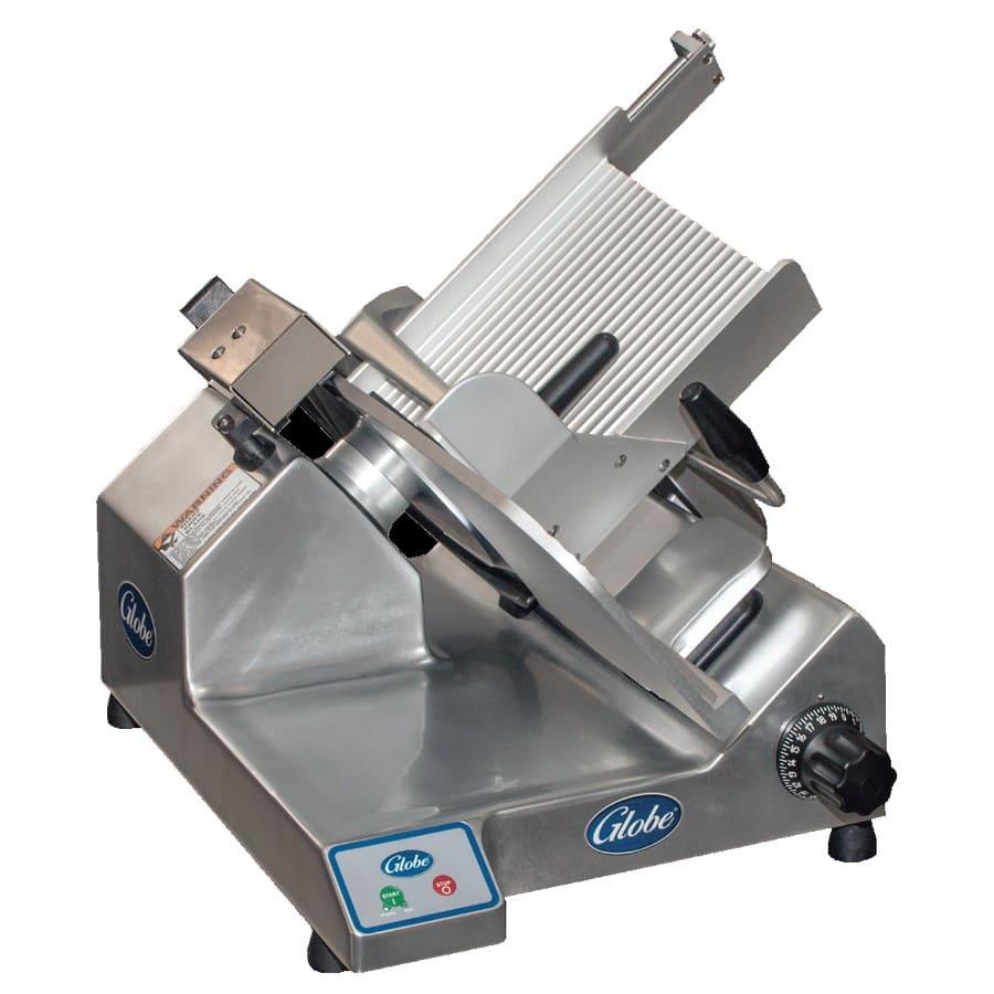 """Globe S13-F Manual Heavy Duty Slicer w/ 13"""" Serrated Knife - Aluminum, 120v"""