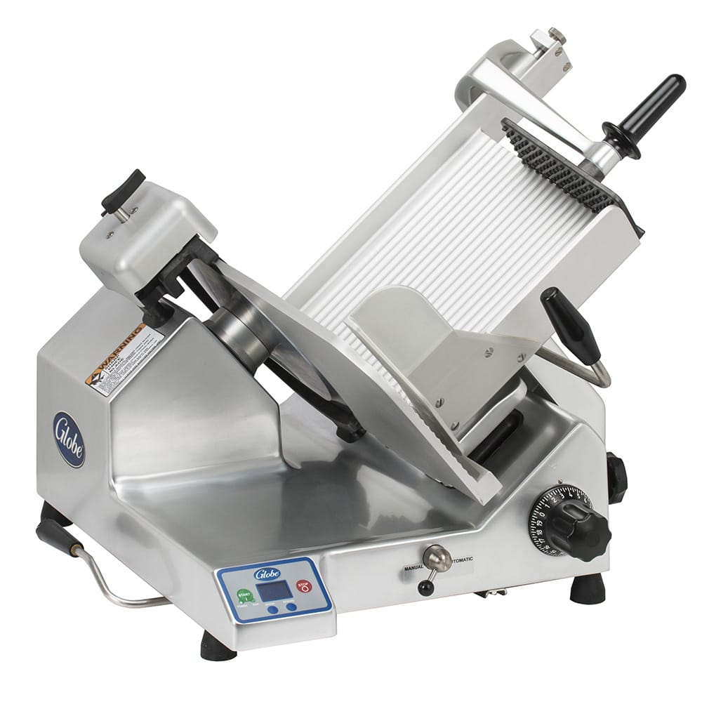 "Globe SG13A Automatic Heavy Duty Slicer w/ 13"" Knife - Aluminum, 120v"