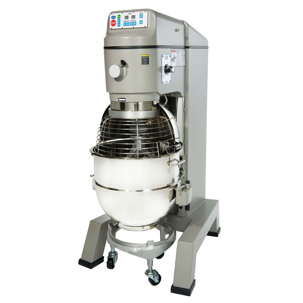 Globe SP80PL 80 Qt Planetary Mixer w/ SS Bowl, Flat Beater, Wire Whip, Hook, Truck