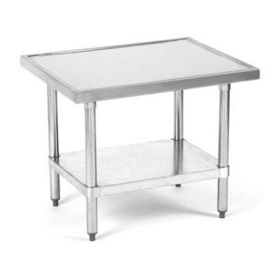 "Globe XTABLE 30"" Mixer Table w/ Galvanized Undershelf Base w/ Marine Edge, 24""D"