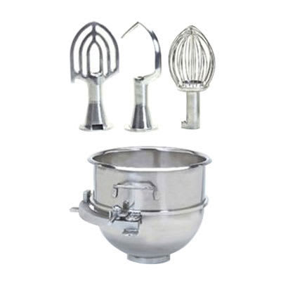 Globe XXACC30-60 Adapter Kit w/ 30-qt Bowl, Hook, Whip, Beater, & Adapter Ring for SP60P Mixer