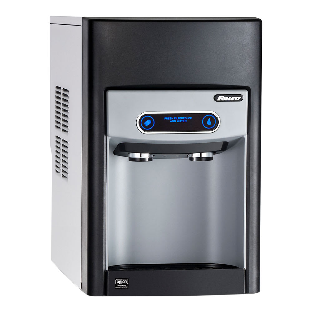 Follett 15CI100A-IW-NF-ST-00 125 lb Countertop Nugget Ice & Water Dispenser - 15 lb Storage, Cup Fill, 115v
