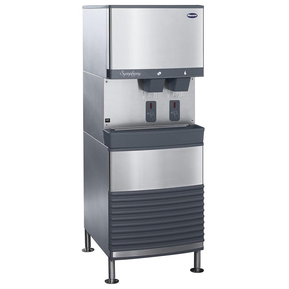 Follett 50FB425A-S 425 lb Floor Model Nugget Ice & Water Dispenser - 50 lb Storage, Cup Fill, 115v