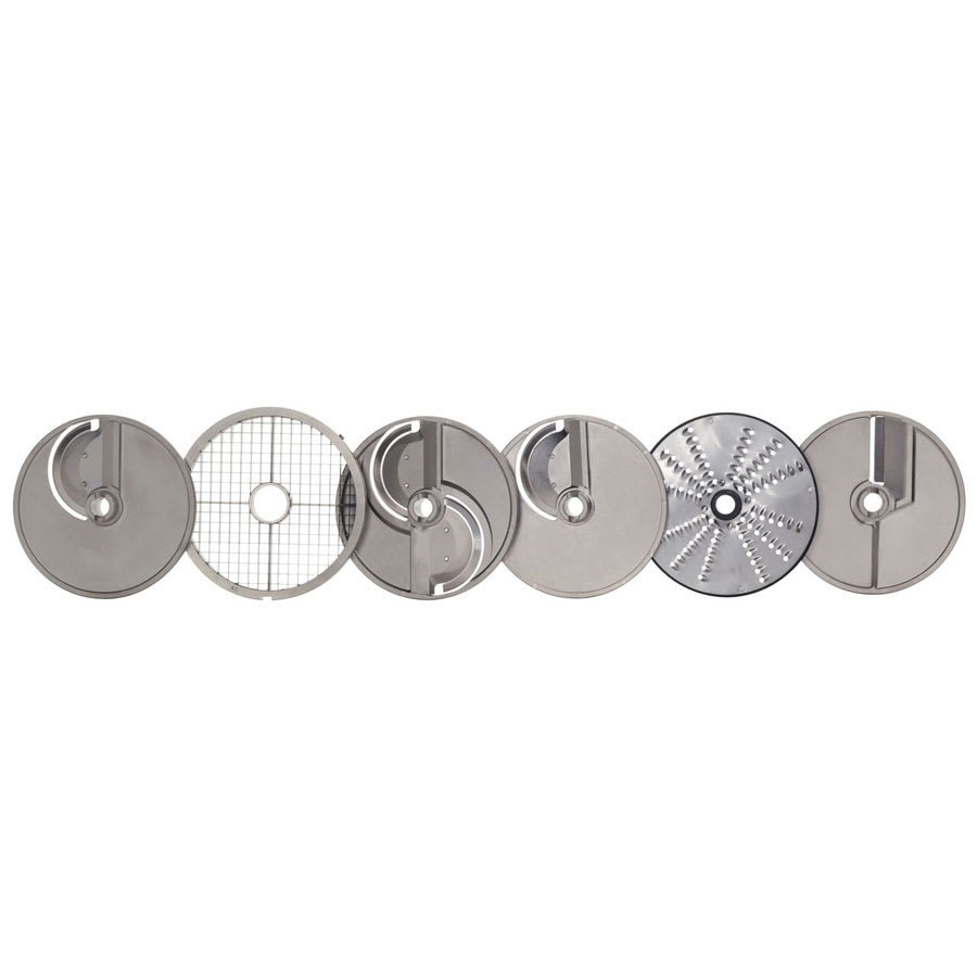 Hobart 3PLATE-6PACK-SSP 6 Plate Pack For FP400 Food Processors w/ Wall Rack