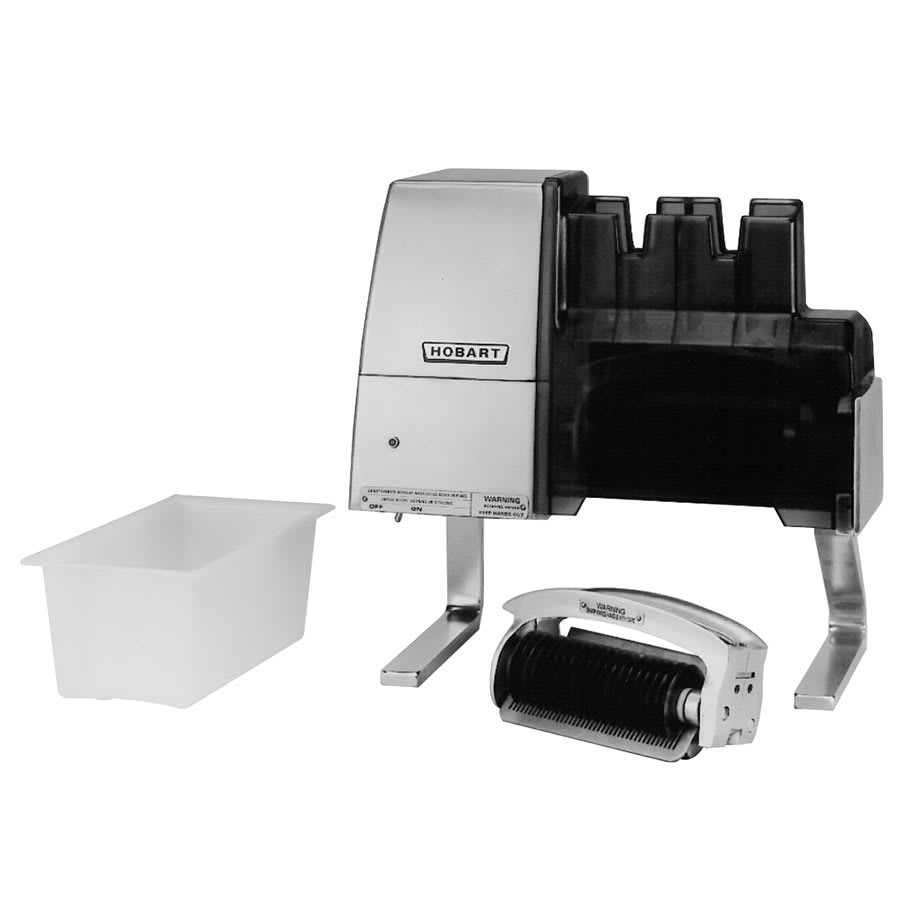 Hobart 403-20 Countertop Meat Tenderizer - Direct Gear Drive, 220-240v/1ph