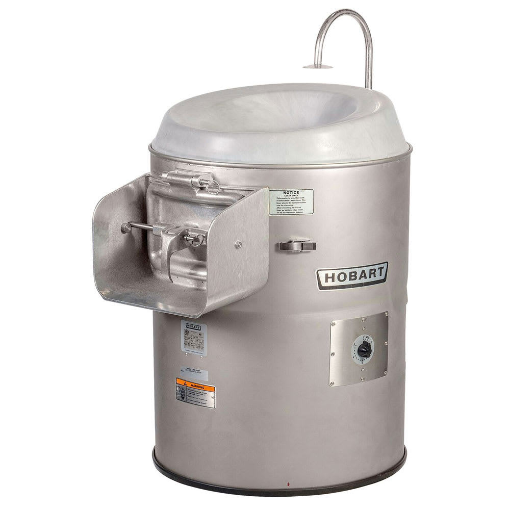 Hobart 6460-1 Vegetable Peeler w/ 50 60 lb Potato Capacity, Stainless, 115/1 V