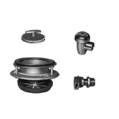 Hobart ACCESS-GROUPE Disposer Accessories w/ Cover Stopper Sink Adapter Assembly & Water Inlet