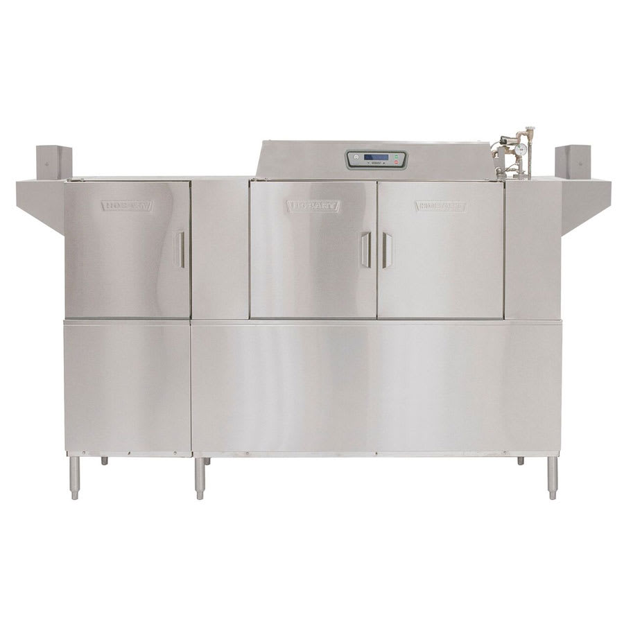 Hobart CLPS86E+BUILDUP Conveyor Dishwasher w/ 2-Tanks & Hinged Doors, 342-Racks/hr