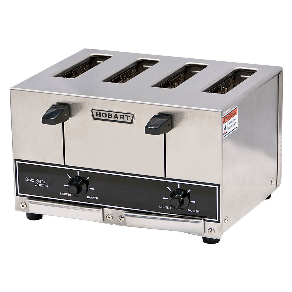 "Hobart ET27-4 Slot Toaster - 290-Slices/hr w/ 1""W Product Opening, 120v"