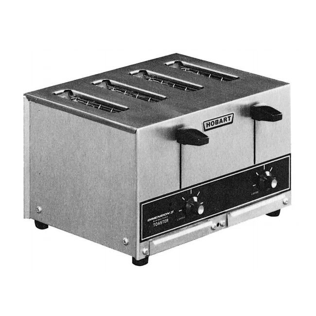 "Hobart ET27-6 Slot Toaster - 290-Slices/hr w/ 1""W Product Opening, 240v/1ph"