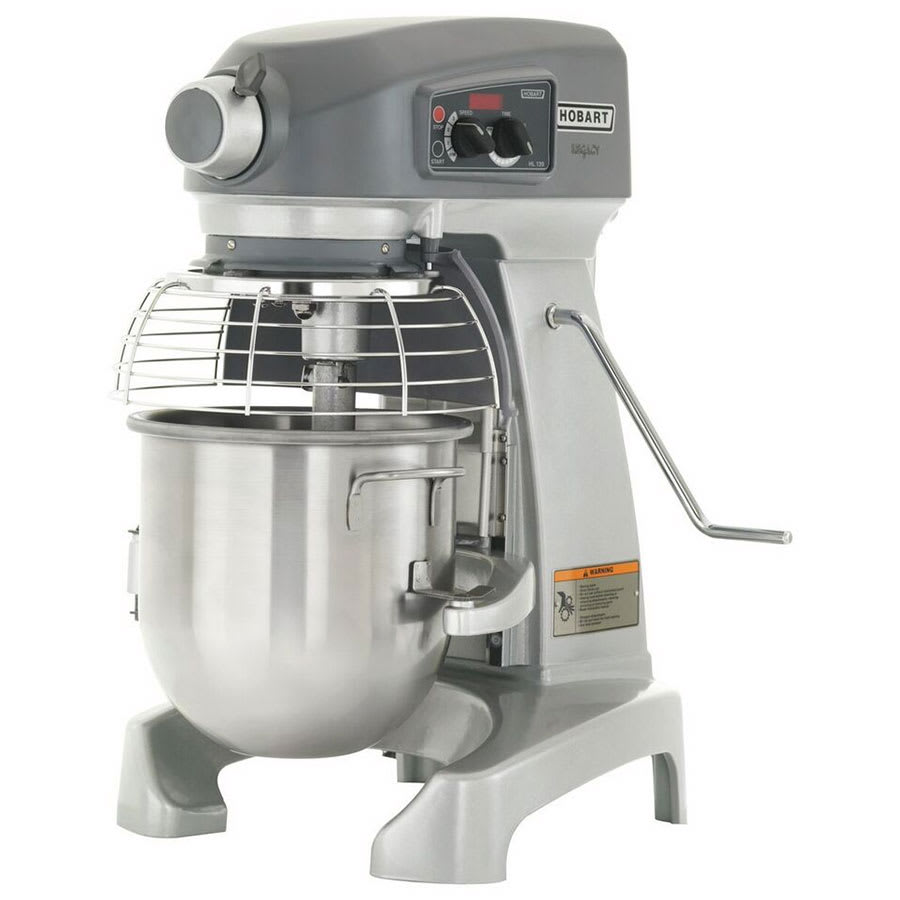 Hobart HL120-1STD 12 qt Planetary Bench Mixer w/ Stainless Bowl & Wire  Whip, 100 120/1 V