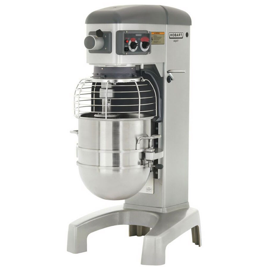 Hobart HL400-4STD 40 qt Planetary Mixer w/ Stainless Bowl & 3 Fixed Speeds, 200 240/1 V