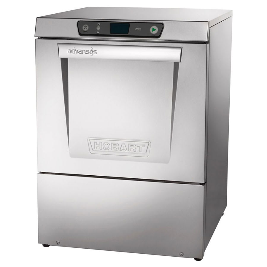 Hobart LXER-2 High Temp Rack Undercounter Dishwasher w/ Built-In Booster & (30) Racks/hr, 208 240v/1ph
