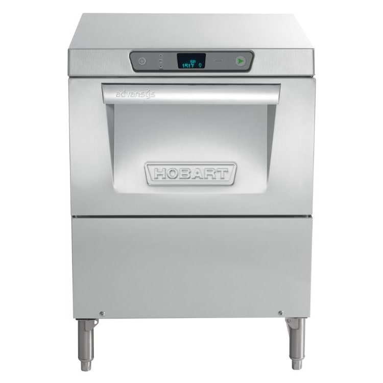 Hobart LXGER-2 High Temp Rack Undercounter Glass Washer - (30) Racks/hr, 120/208 240v/1ph