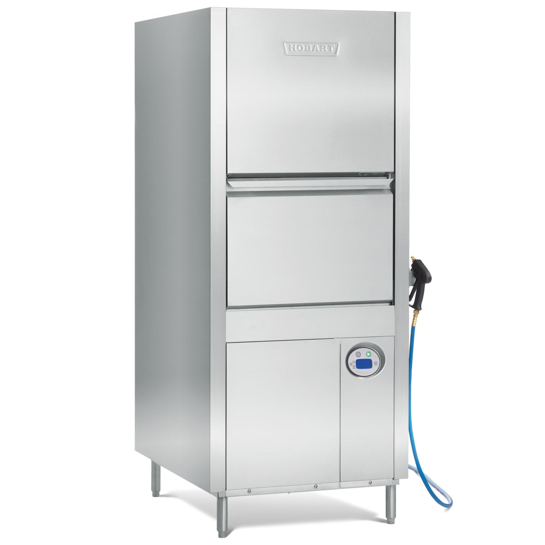 Hobart PW10-1 High Temp Door-Type Dishwasher w/ Booster Heater - (20) Racks/hr, 208 240v/3ph
