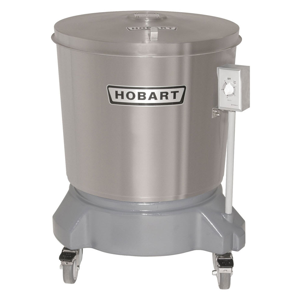 Hobart SDPS-11 20 Gallon Salad Dryer w/ Drain & Stainless Outer Tub, 115/1 V