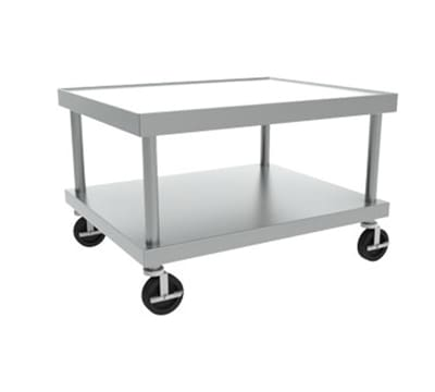 Hobart STAND/C-24 24x24-in Equipment Stand w/ Marine Edge, Undershelf & 5-in Casters, Stainless
