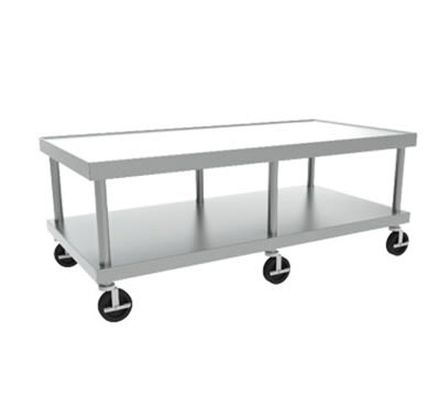 Hobart STAND/C-60 61x24-in Equipment Stand w/ Marine Edge, Undershelf & 5-in Casters, Stainless
